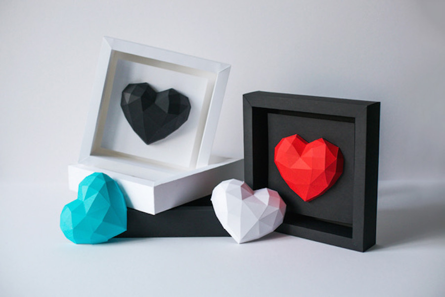 Valentine's day Paper Hearts Project