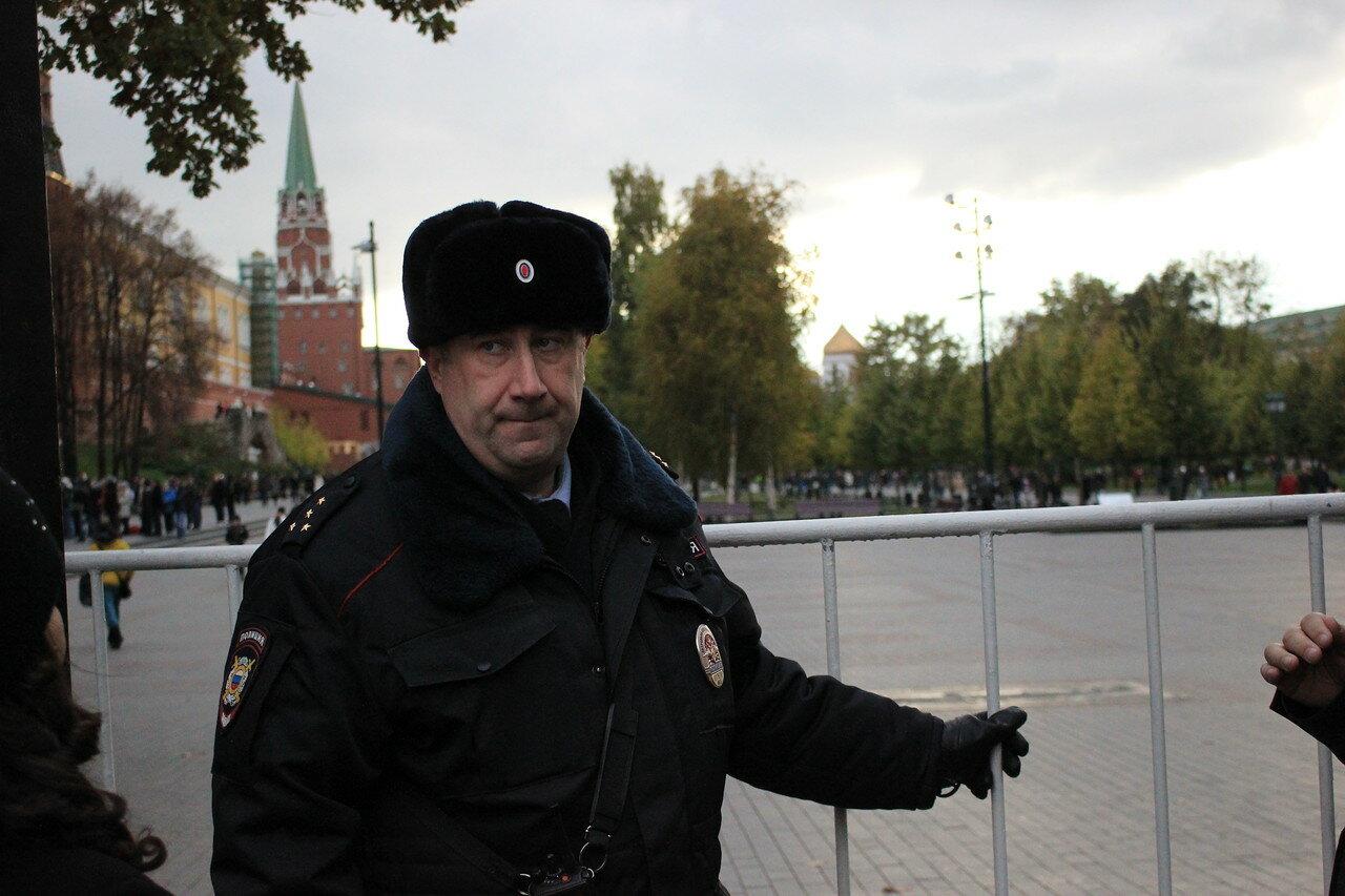 полицейские Александровский сад