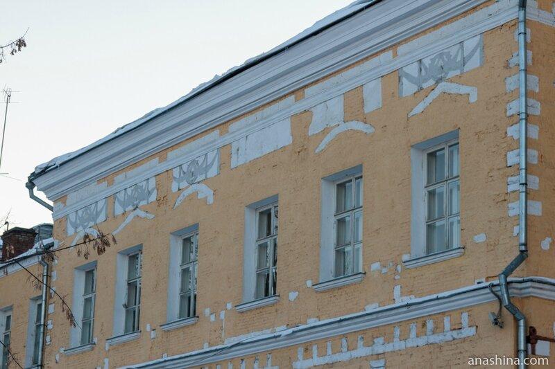 Вскрытые реставраторами старые элементы дворца, Лефортовский дворец