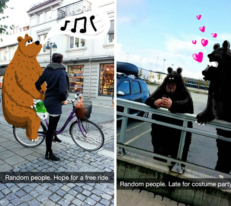 Snapchat Doodles - Il transforme ses photos Snapshat avec des doodles colores
