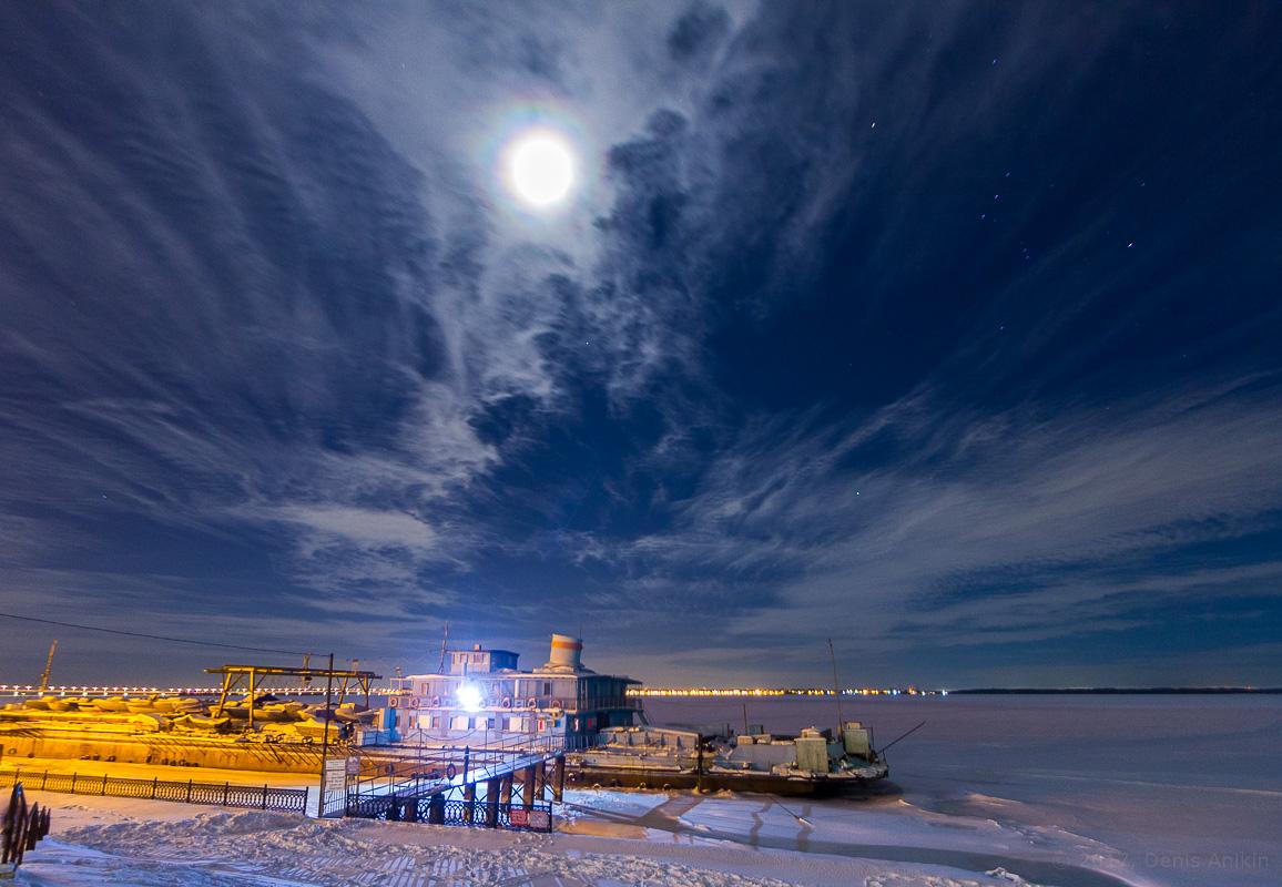 Саратов ночь набережная зима фото 1