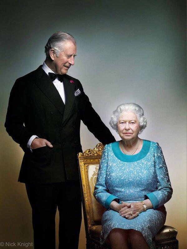 Новый портрет Королевы и принца Уэльского