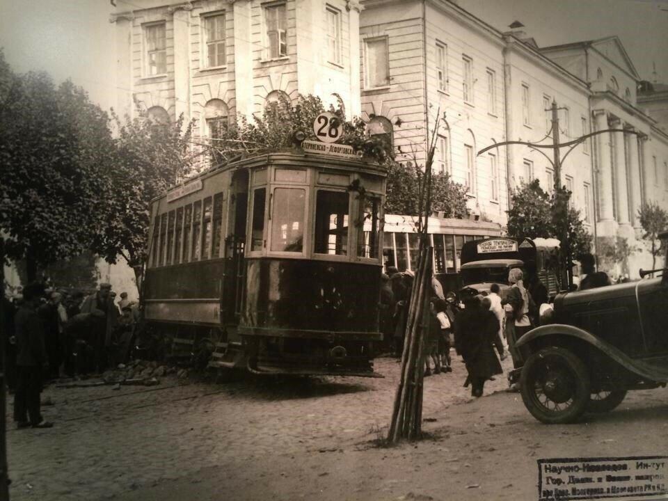 Авария трамвая №28 в Лефортове.1930 год.jpg