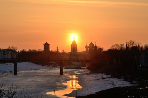 Закат над рекой Вологда