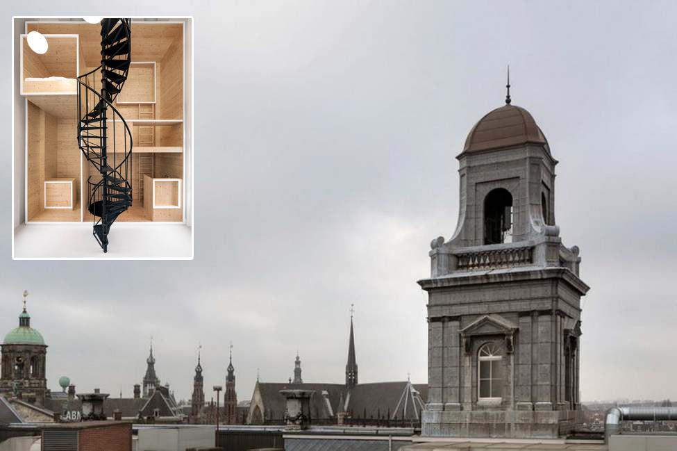 Студия для жилья и творчества в старой башне Амстердама