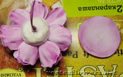 английская роза из фоамирана мк