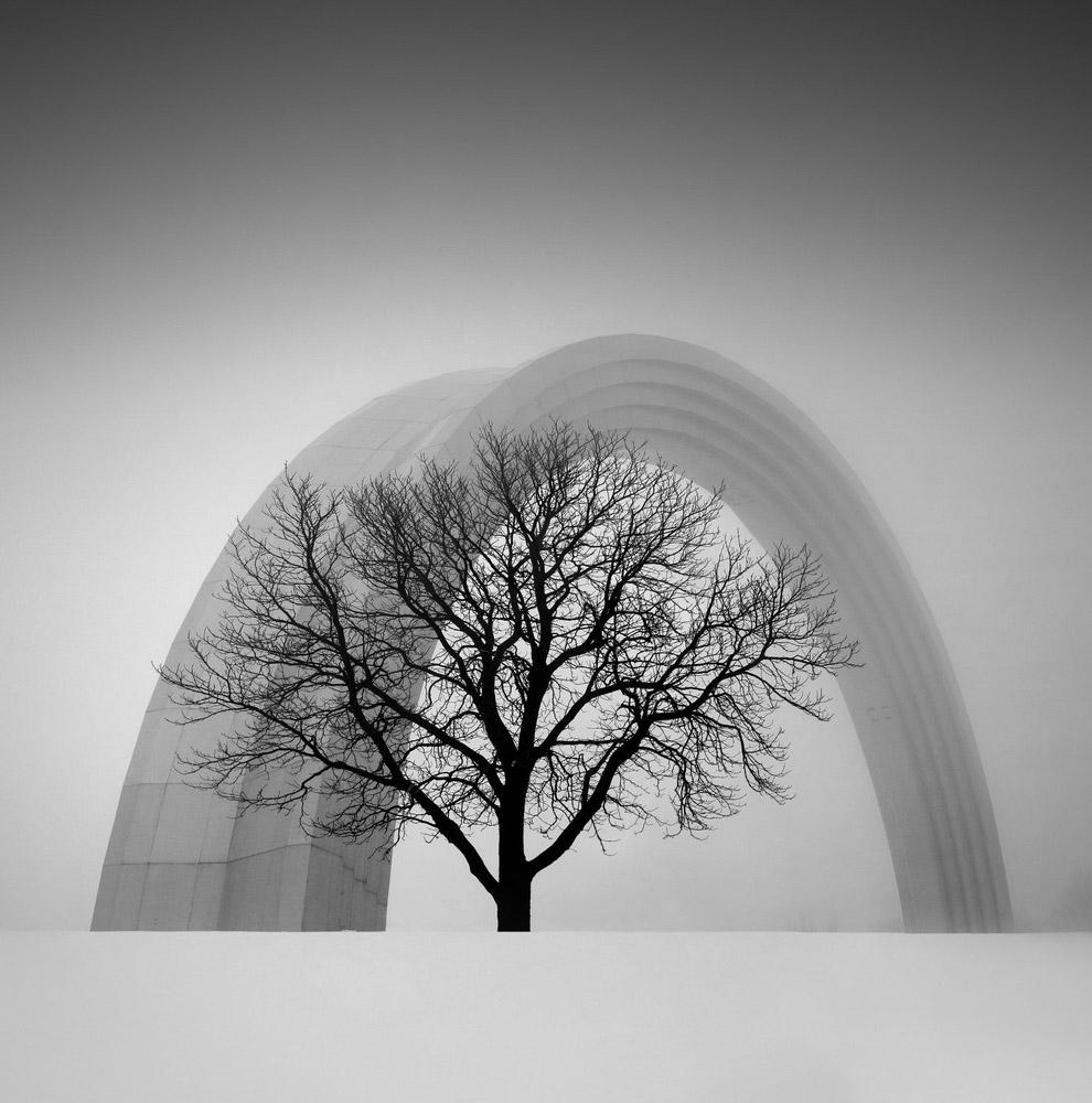 13. Пурга и здания в Нью-Йорке. (Фото Michelle Palazzo):