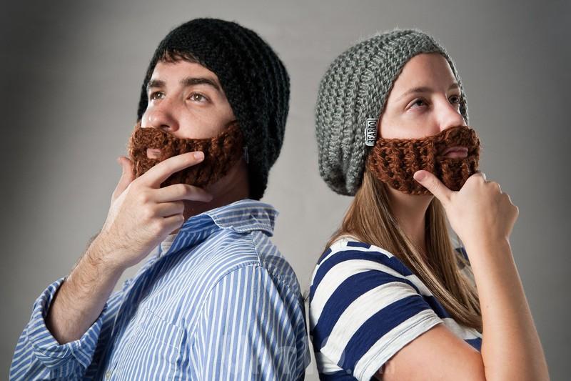 14. В такой вязаной шапке с бородой вы будете выглядеть очень стильно.