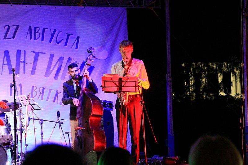 Саксофон и контрабас - Джазовый концерт и Дни романтики на Вятке 2016