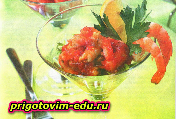 Креветки в соусе с водкой и табаско