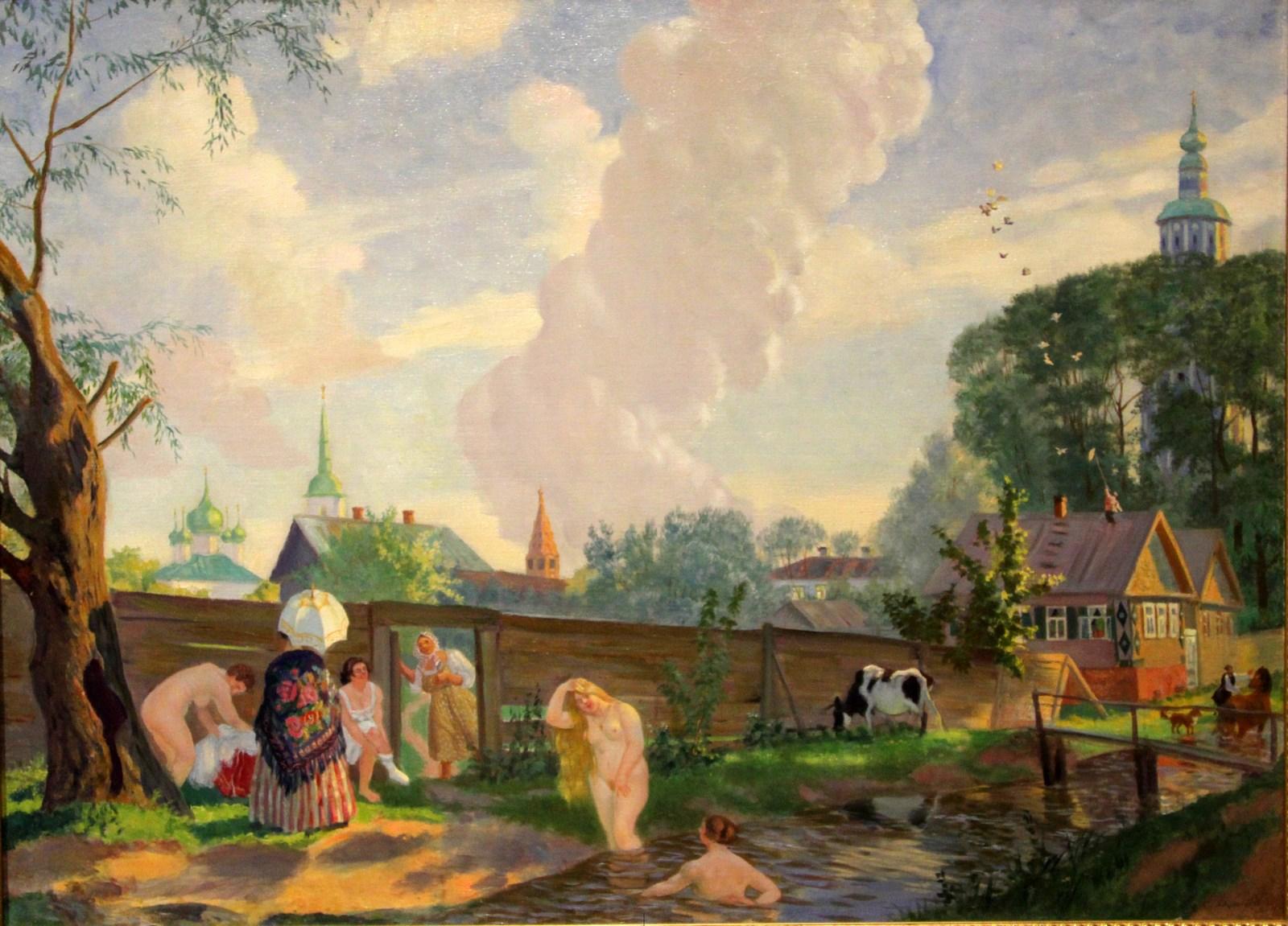 Кустодиев Б.М. 1878-1927 Купальщицы. 1917 Холст, масло. Национальный художественный музей Республики Беларусь