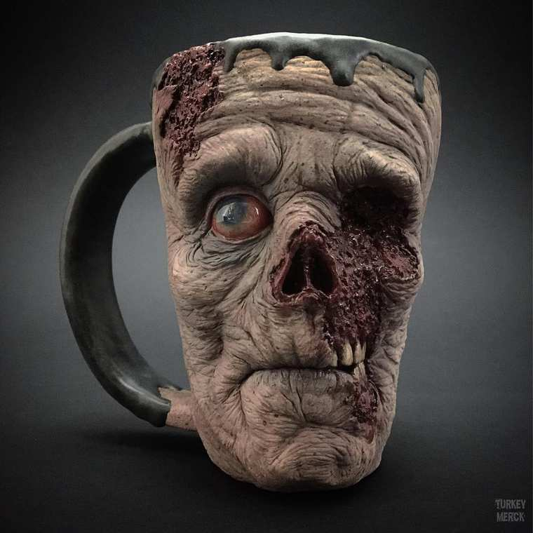 Zombie Mugs - The way too realistic horror mugs by Turkey Merck