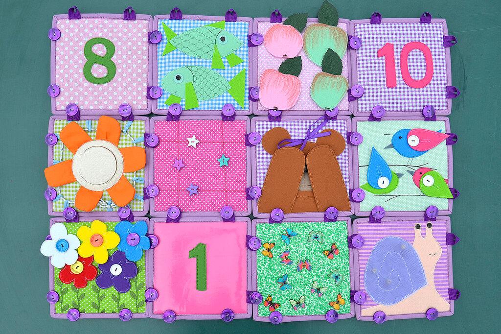 кубики покрывало подушка комплект в детскую салатовый сиреневый (10).JPG
