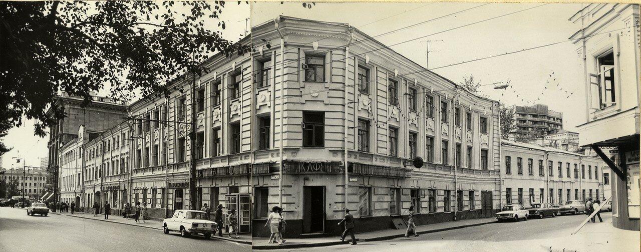 399326 Москва, Тверской бульвар 5-1. Угол с Малой Бронной 1973 а. кондрашов.jpg