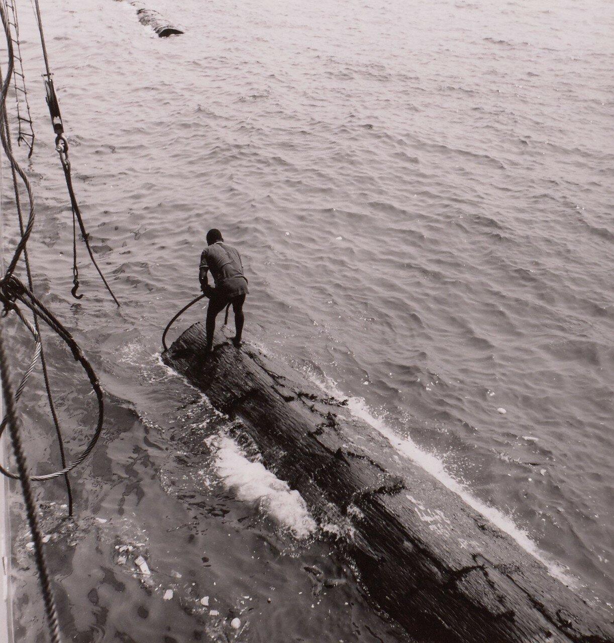 Сасандра. Доставка древесины на корабль в порту