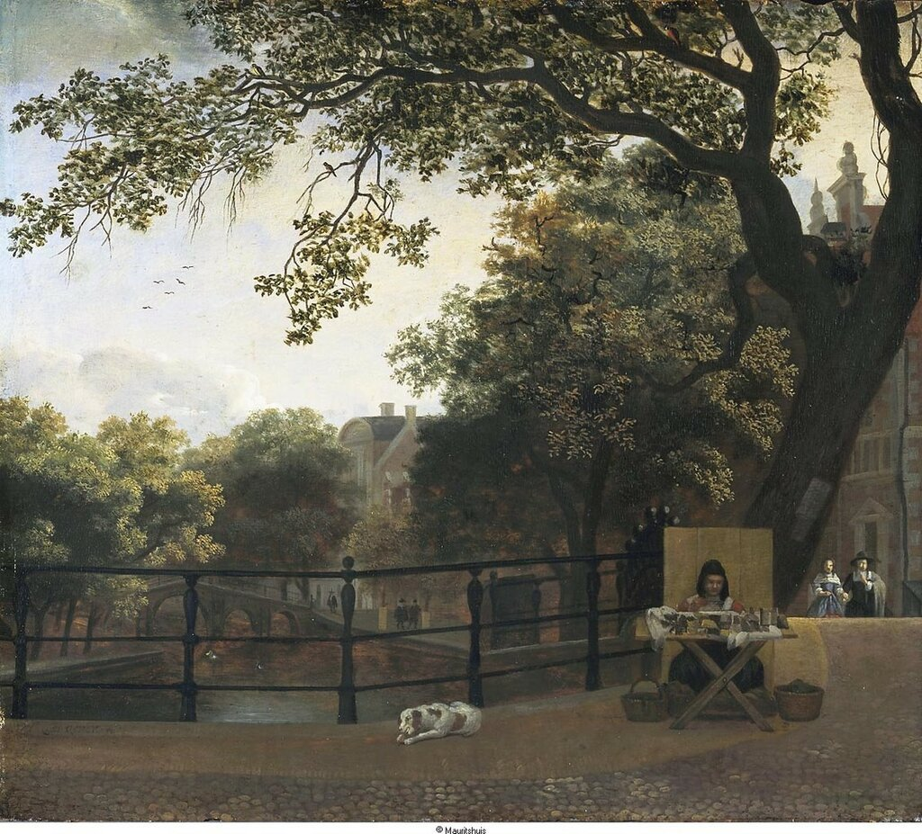 Zvtp1hVvZSgOever, Hendrick ten - Вид на канал Херенграхт (Herengracht) в Амстердаме, 1690, 36,8 cm x 42 cm, Дерево, масло.jpg
