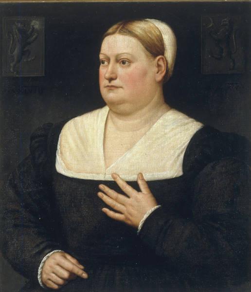 B.Licinio, Bildnis einer Frau - B.Licinio / Portr.of a Woman / 1515 - B.Licinio / Portrait de femme
