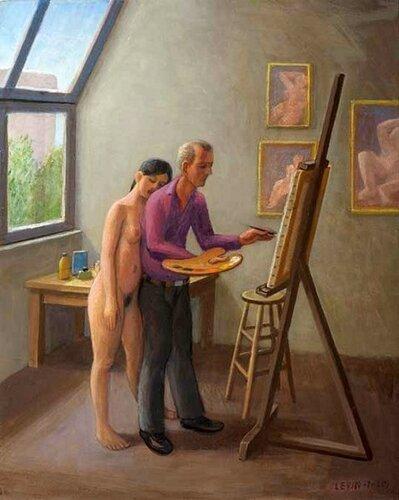 Подборка живописи Художник и модель