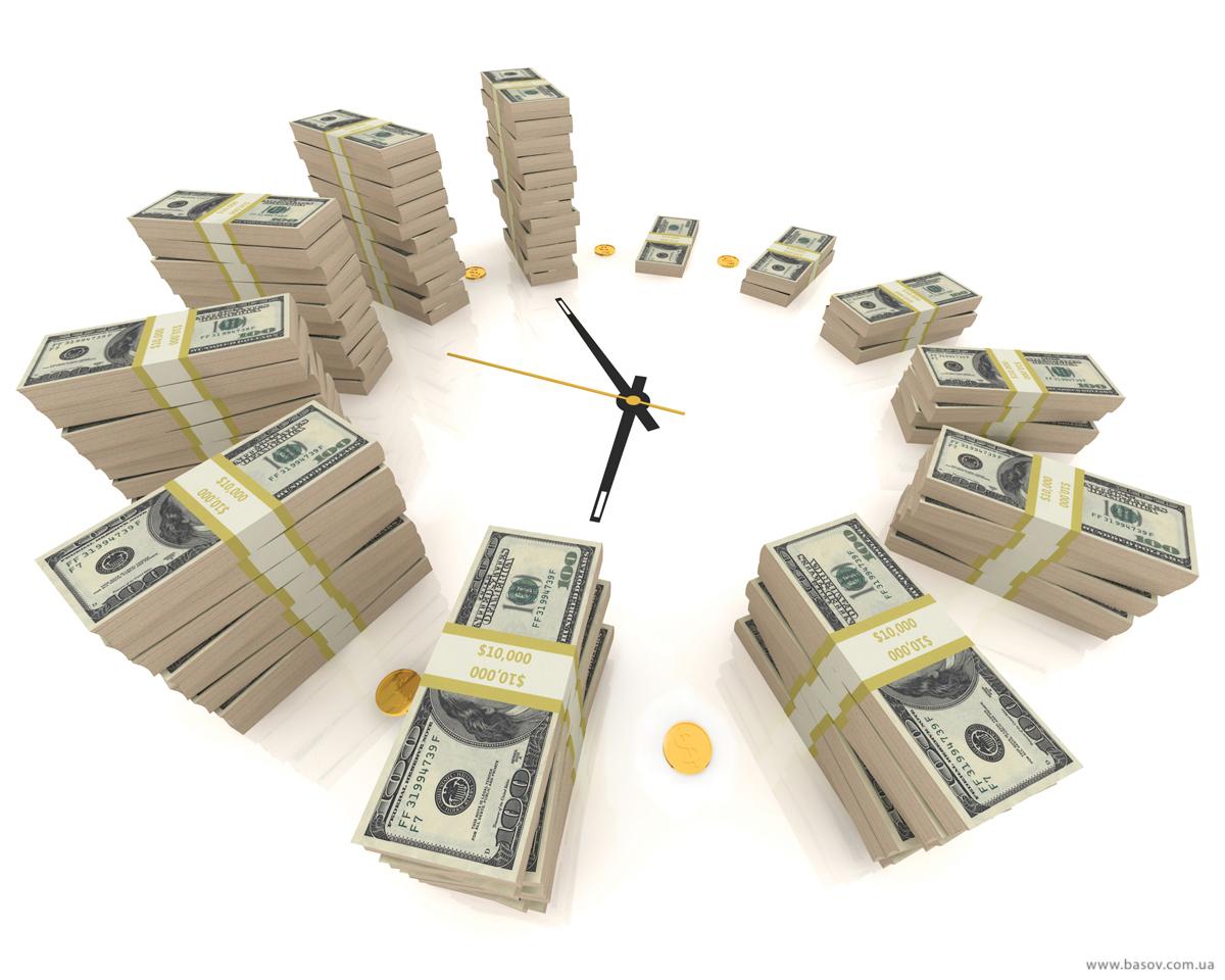 Открытки к Дню Финансиста! Часы и деньги