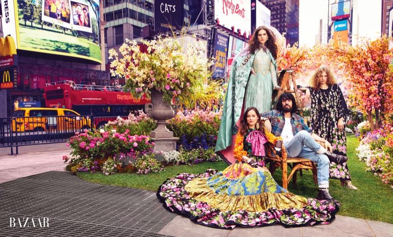 Дакота Джонсон в Gucci для Harper's Bazaar US