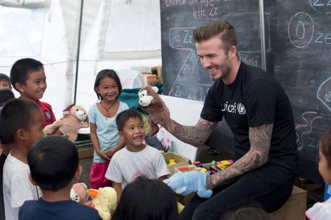 © David Beckham/facebook  С2005 года Дэвид состоит врядах послов доброй воли ЮНИСЕФ. В2015