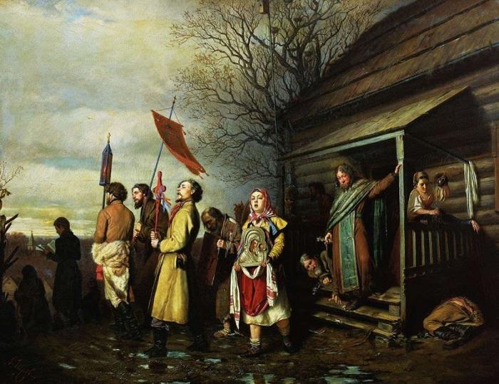 Василий Перов, 1861 год Снисходительное отношение церкви к пьянству было поразительным. На картине П