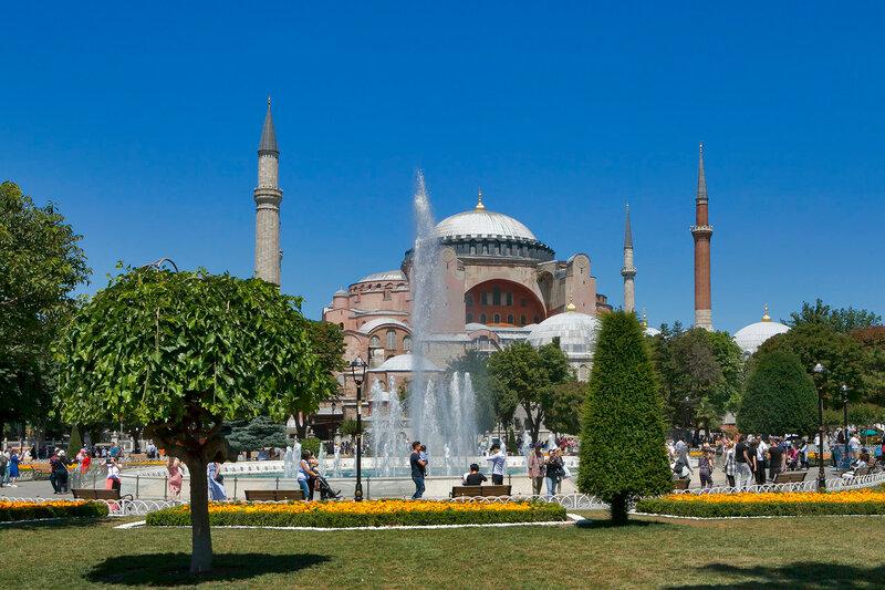 Haghia Sophia (Aya Sofya), Sultanahmet district, Istanbul,Turkey