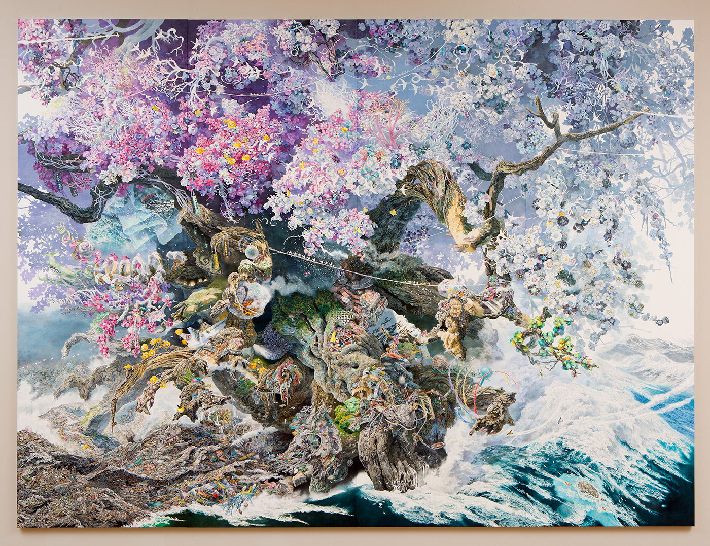 Rebirth: Artist Manabu Ikeda Unveils a Monumental Pen & Ink Drawing Nearly 3.5 Years in the Making (12 pics)