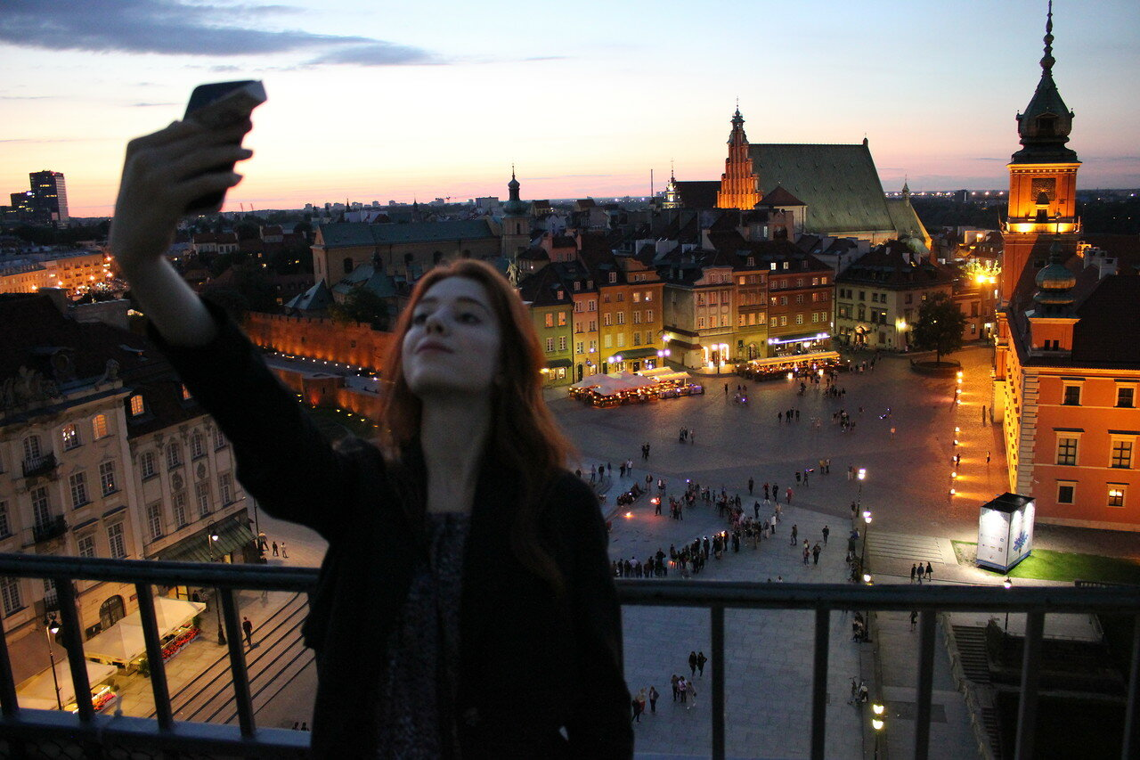 Вечерняя Варшава сверху