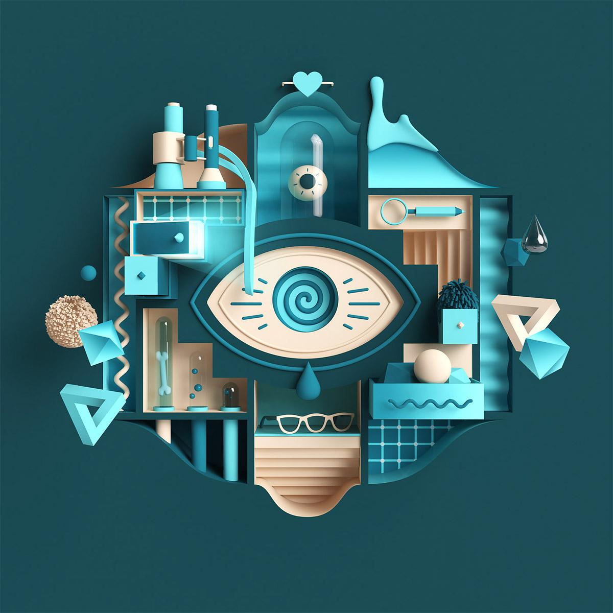 Vibrant Digital Illustrations by Rutger Paulusse