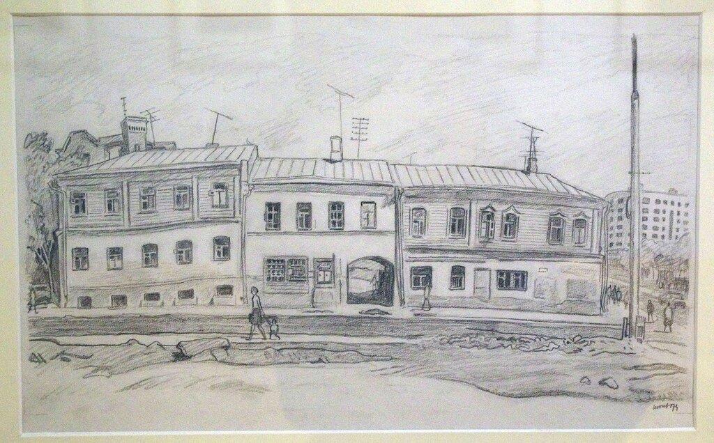 В. Н. Вакидин Старые дома в Большом Тишинском переулке 74.jpg