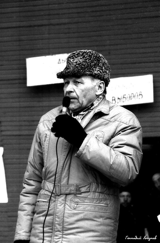 Нижний парк. Кандидат в народные депутаты РСФСР профессор ЛГПИ Алексей Васильевич Райков