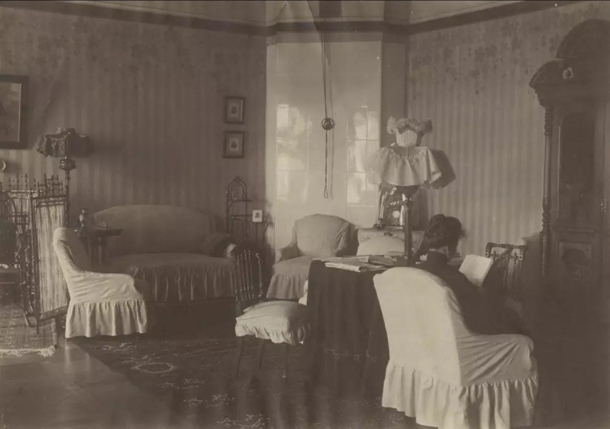 Интерьер гостиной в доме Наставиных