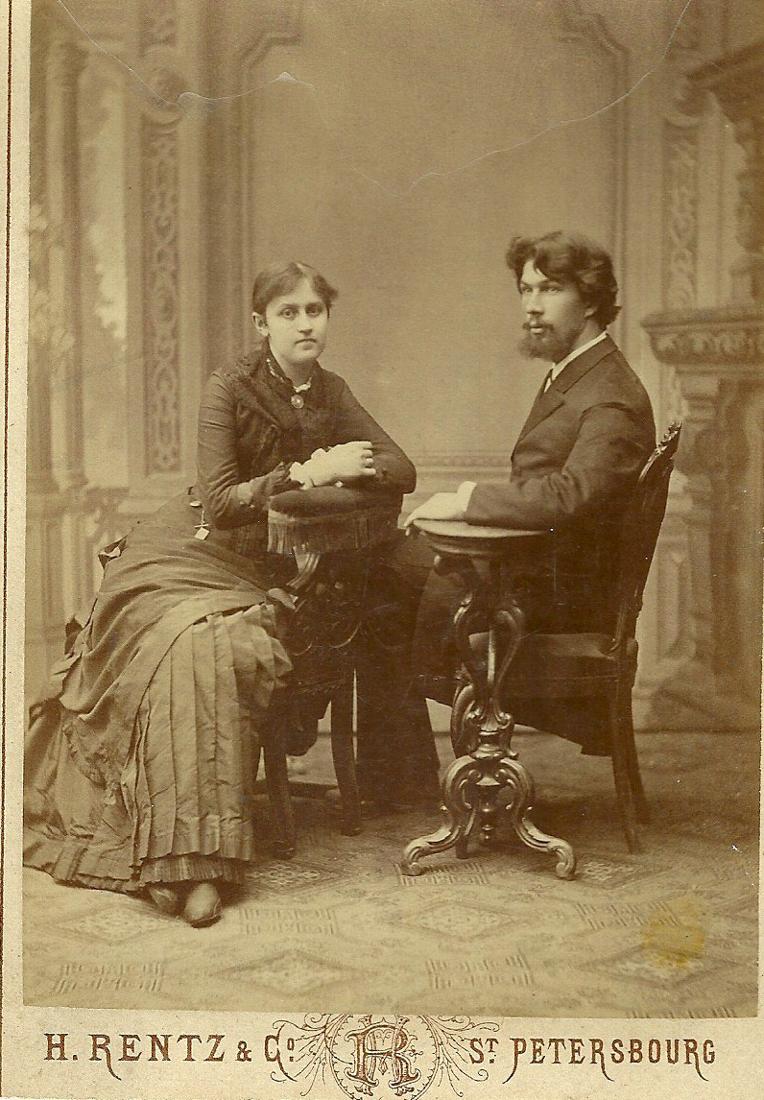 Заведующий Мелекесским низшим ремесленным училищем - Гавриил Михайлович Песоцкий с женой