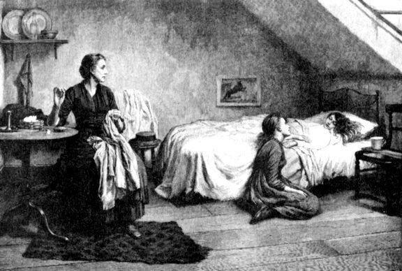 Вдова и сироты. Гравюра Т. Б. Кеннингтона из журнала Иллюстрированные городские новости,1888).jpg