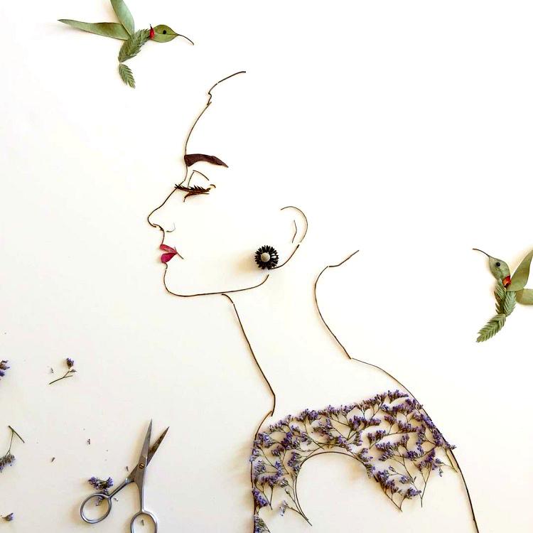 رسامة روسية الورد مجسمام بروعة