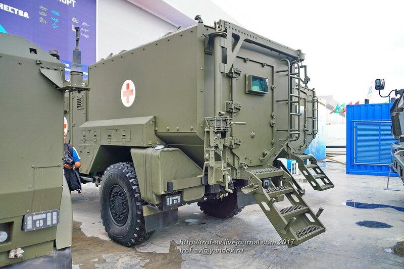Медицинский бронеавтомобиль на базе Тайфун К-53949, форум Армия-2017