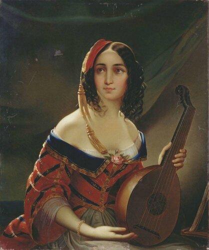 Подборка живописи с темой «Итальянки в российской живописи»