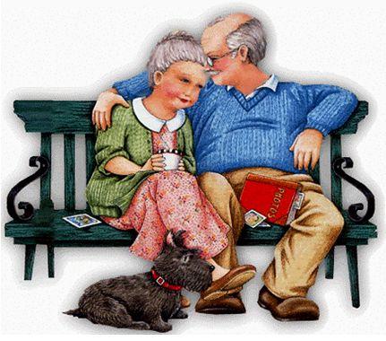 Открытка. 1 октября. С Днем пожилых людей! Международный день.JPG