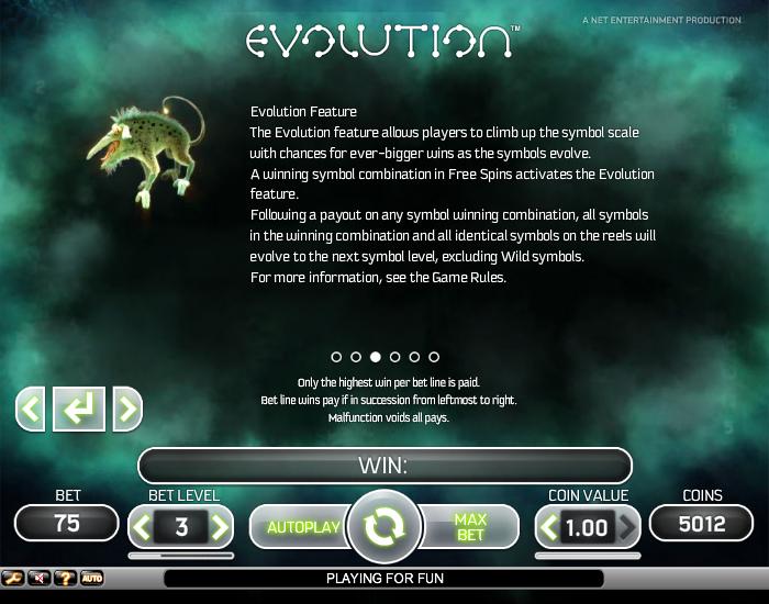 эволюция игровой автомат онлайн бесплатно