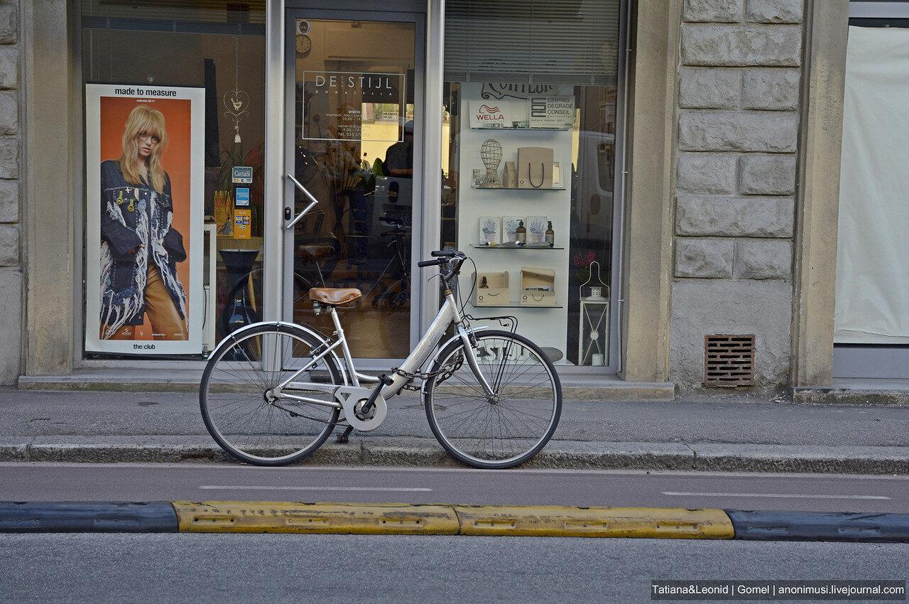 Велосипеды на улицах Флоренции