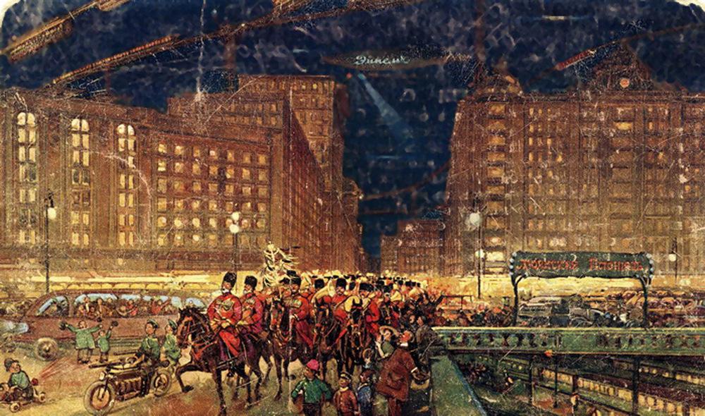 Москва в 23-м веке, какой её представляли художники в 1914 году