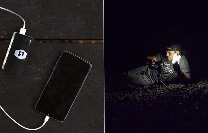 Полезная штука в темноте. Водонепроницаемый светильник с яркостью света до 180 люмен. Питается от ли