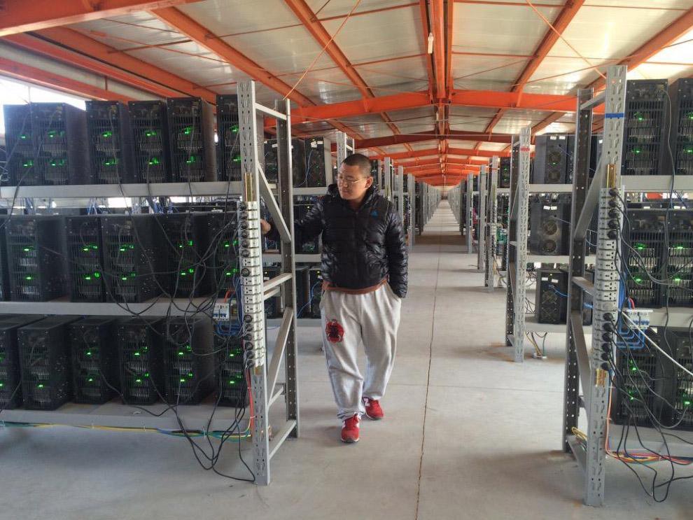 8. Стеллажи с майнинг-машинами на ферме в провинции Гуйчжоу, Китай. Как и многие фермы в Китае,
