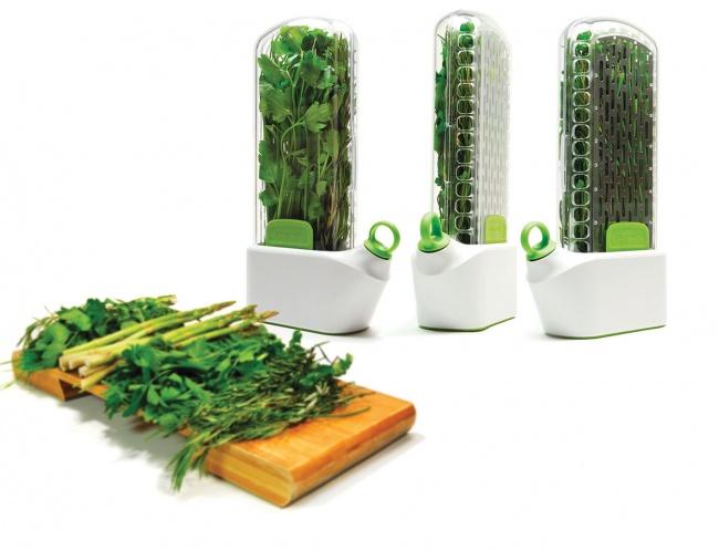 © prepara  Стаким приспособлением можно хранить зелень намного дольше. Она остается свежей бл