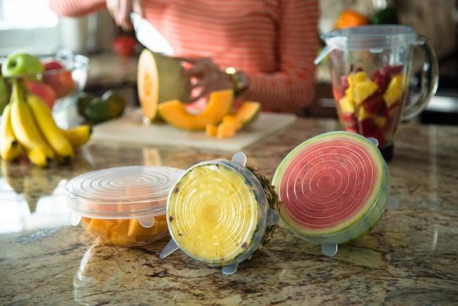 © amazon  Эти прочные крышки изсиликона избавят отпроблем хранения продуктов вхолодильнике.