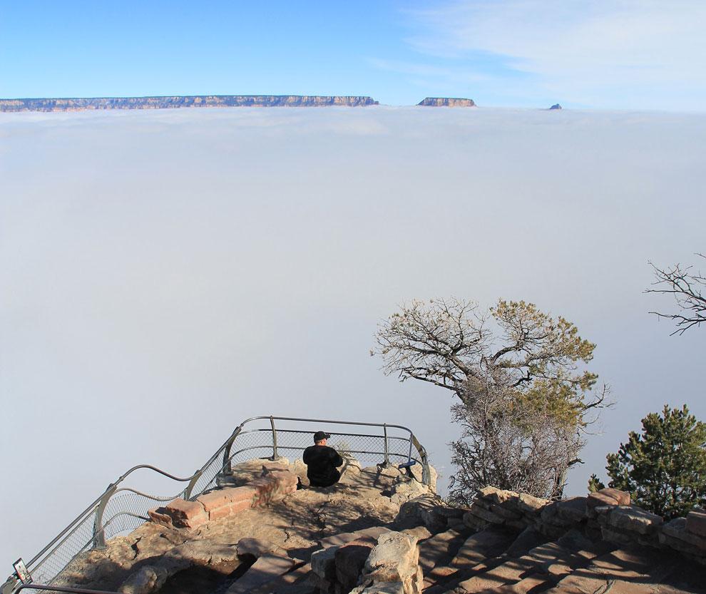 Отсюда хорошо виден масштаб. Вид со смотровой площадки Desert View, 29 ноября 2013. (Фото Natio
