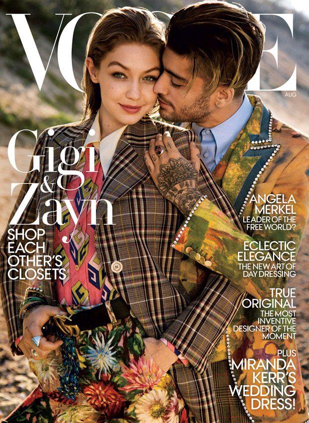 Gender Fluidity: Gigi Hadid & Zayn Malik Cover American Vogue (9 pics)
