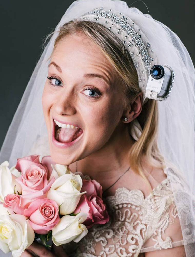 Wedding Action Cam - Filming your own wedding from the Bride's eye view