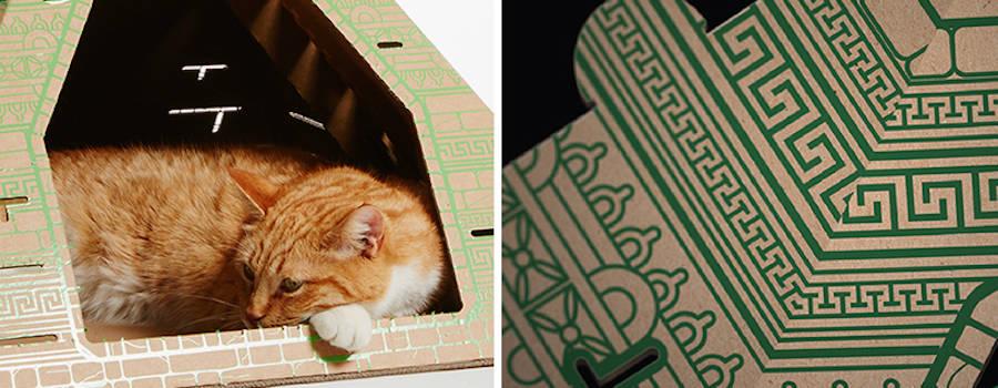 Cardboard Landmarks Cat Houses